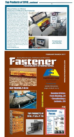 RP420-WF30 : TOP PRODUCT FASTENER TECHNOLOGY MAGAZINE